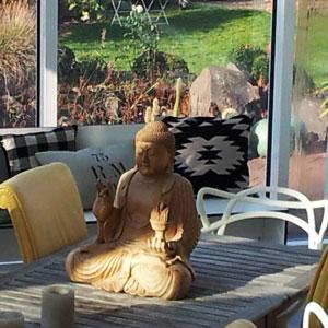Buddha im Wintergarten